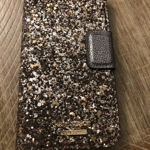 Gold Kate space iPhone 6/7/8 wallet case